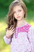 Portrait of a beautiful fashion little girl — Stock Photo