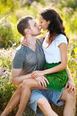 Portrait of a beautiful couple in love — Stock Photo