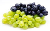 Ripe dark and green grapes isolated — Stock Photo