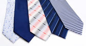 Five ties isolated on a white — Stock Photo
