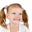 Portrait of cute smiling little girl — Stock Photo