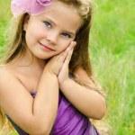 Portrait of cute little girl in princess dress — Stock Photo #13249922
