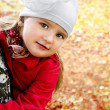 Autumn portrait cute little girl — Stock Photo #13627869