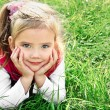 Outdoor portrait of cute little girl — Stok Fotoğraf #13731435