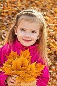 Portrait of cute little caucasian girl — Stock Photo