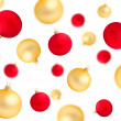 Falling red and gold christmas balls isolated — Stock Photo #14452649