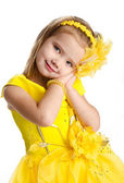 Portrait of cute little girl in princess dress — Stock Photo
