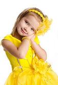 Portrait of cute little girl in princess dress — Stock Photo