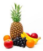 Variedade de frutas exóticas isolado — Foto Stock
