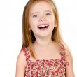 Portrait of laughing cute little girl isolated — Stock Photo
