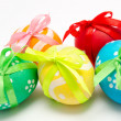 Colorful easter eggs isolated over white — Stock Photo #21904001