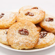 Royalty-Free Stock Photo: Heap of delicious cookies on a plate isolated