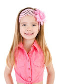 Portrait of smiling cute little girl isolated — Stock Photo