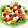 Fresh vegetable salad isolated — Stock Photo