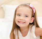 Portrait of happy cute little girl — Stock Photo