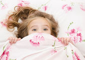 Little girl having childhood nightmares — Stock Photo