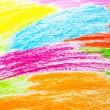 Stock Photo: Wax crayon hand drawing background
