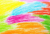 Wax crayon hand drawing background — Stock Photo