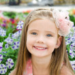 Outdoor portrait of cute little girl — Stock Photo #37570699