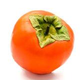 Pomarańczowy dojrzałe persimmon na białym tle — Zdjęcie stockowe