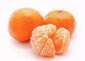Orange tangerines isolated on a white — Stock Photo