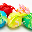 Colorful easter eggs isolated over white — Stock Photo #40754033