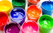 Gouache paint isolated on a white  — Stock Photo