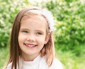 Portrait of adorable smiling little gir — Stock Photo
