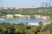 Olympic rowing canal in Krylatskoye, a training base. — Stock Photo