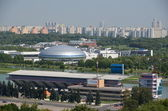 "Olympic rowing channel and ""Sports Palace"" Dinamo "","" in Krylatskoye. — Stock Photo"
