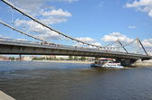 View of the Crimean bridge on Moscow river — Stock Photo