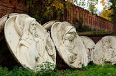 Oryginalny płaskorzeźbami Chrystusa Zbawiciela, wyburzona w 1931 w Moskwie — Zdjęcie stockowe