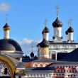 "Golden domes of Russia. Dome ""Ascension of David desert"" — Stock Photo"
