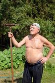 Brave gardener — Stock Photo