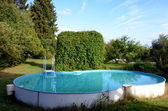 Pool and gazebo — Stock Photo