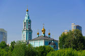 Christmas temple Blessed the Virgin on Krylatsky hills. — Stock Photo