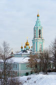 Christmas temple Blessed the Virgin on Krylatsky hills in winter — Stock Photo