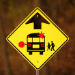 School Bus Stop Ahead Sign — 图库照片 #14340681