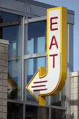 Eat Sign — Stock Photo