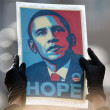 "Obama ""Hope"" Poster by Sheppard Faire — Stock Photo #14552885"