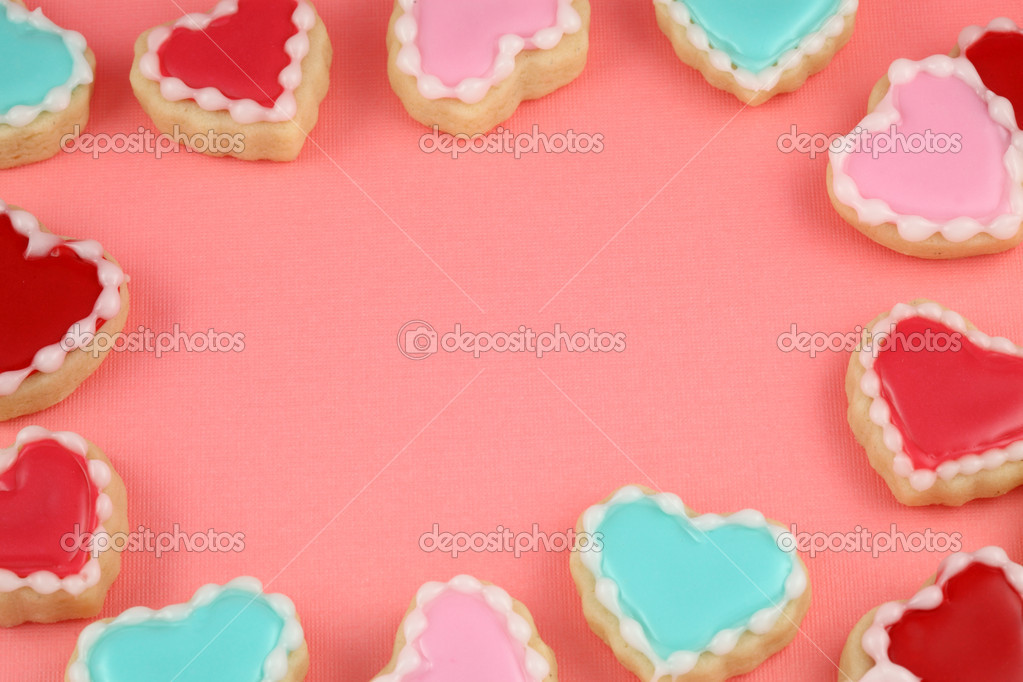 Heart, love and Valentine's Day Cookies. — Stock Photo #20143009