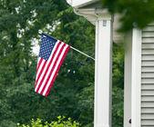 American Flag House — Stock Photo