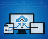 Cloud Technology — Stock Vector