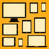 Mobile Device Symbols — Stock Vector