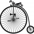 Stock Vector: Penny Farthing Vintage Bicycle