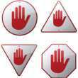 Caution and Warning Signs — Stock Vector