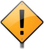 Alert Sign — Stock Vector