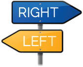 Right or Left Street Signs — Stock Vector