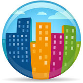 Globe City — Stock Vector