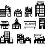 Building Symbols — Stock Vector